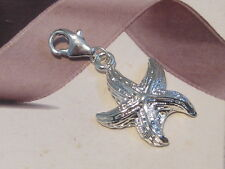 SILVER STAR FISH LOBSTER CLIP ON CHARM - FIT CARRIER BRACELET