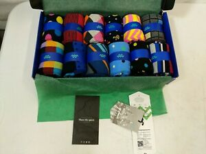 New with Tags Mio Marino Mens 12 Pack Dress Socks Patterned Multicolor Size 9-11
