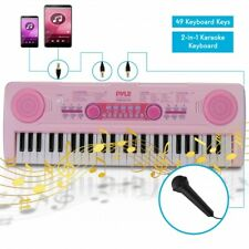 Pyle Pkbrd4911Pk Children's Electric Keyboard Piano, Rechargeable, Speaker, Pink