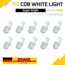 10X T10 Glassockel LED Auto Xenon Weiß 12V Licht Lampe Innenraum Standlicht COB