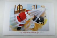 Its a Merry Christmas When Pigs Fly Bonnie Shields Signed/Numbered Print 3/350 d