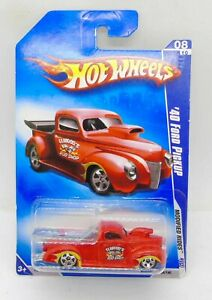 4917 HOT WHEELS CARTE US / MODIFIED RIDES 2009 / #164 '40 FORD PICK UP ROUGE