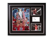 Nemanja Vidic Signed Photo Large 24x20 Framed Man Utd Autograph Display + COA