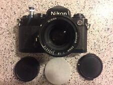 VTG Nikon FE 35mm Film SLR Camera w/ Nikkor 50mm 1:1.8 Lens FREE PRIORITY SHIP