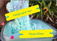 Floam Slime Fluffy slime Crunchy Gak Goo PRE MADE Design your own UK SELLER SEN