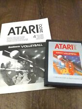 Volleyball Atari 2600 Video Game Cartridge With Instruction Manual 1988