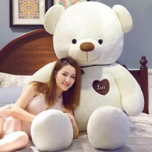 (60-200CM) Teddy Bear Plush Giant Big Large Stuffed Doll Toys Kids Birthday Gift