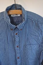Ben Sherman blue check shirt size large casual mod skin