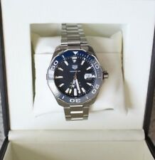 New AUTH Tag Heuer AQUARACER  CALIBRE 5 Automatic watch 300M 1000ft Blue