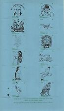 EXETER CHRISTMAS POST 1976 SIR WINSTON CHURCHILL SHEET OF 12 CINDERELLA STAMPS
