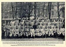 Immagine di gruppo ufficiale corpo IR di courbière n. 19 il conte Beck * immagine documento 1906
