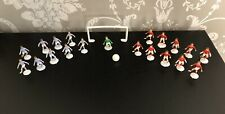 Vintage Plastic Table Top Football Game Pieces Set Players Goal Ball Plastic