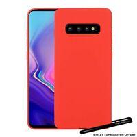 Coque silicone gel Rouge mince pour Samsung Galaxy S10e S10 S10Plus