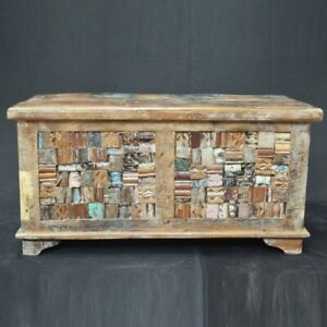 MADE TO ORDER INDIAN HANDMADE Liberty Reclaimed Timber Blanket Box Large Chest