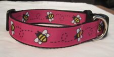 bumble bee collar or lead pink  yellow white handmade grooming puppy k9 cartoon