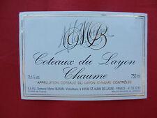 étiquette de vin NEUVE Coteaux du Layon Chaume
