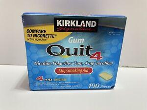 190 Pieces Kirkland Quit 4mg Nicotine Gum Stop Smoking Aid Generic Nicorette NEW