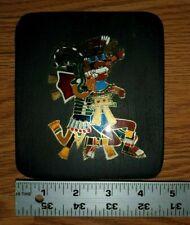 METAL ART Aztec GOD OF FIRE Xiuhtecuhtli & Double Serpent MADE IN MEXICO