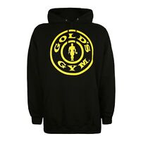 Golds Gym - Logo - Official - Mens - Pullover Hoodie - Black - Sizes S-XXL