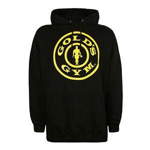 Official Golds Gym Mens - Logo - Pullover Hood - Black