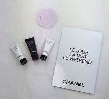 CHANEL LE JOUR/LA NUIT/LE WEEKEND SERUMS 3 DELUXE SAMPLE/TRAVEL SIZES WITH CARD