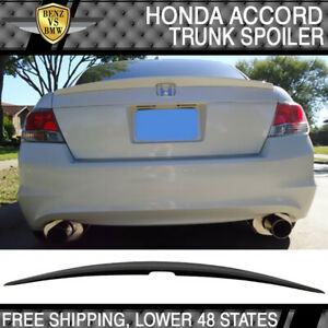2008-2012 Honda Accord 4Dr OE Style Trunk Spoiler Unpainted - ABS