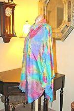 Stunning Vintage Abstract Tie Tie Effect Stunning Pure Silk Blouse