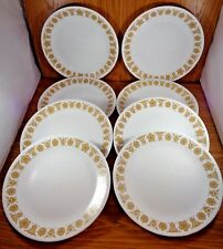 "Corelle 10 1/4""  BUTTERFLY GOLD Dinner Plates Set of 8"