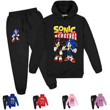 Sonic The Hedgehog Boys Girls Kids Hoodies Pullover Sweatshirt Clothing Sets
