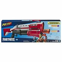 Nerf Fortnite TS Blaster -- Pump Action Dart Blaster, 8 Official Nerf Mega