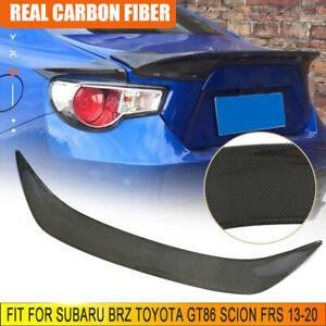 Fits Subaru BRZ Toyota GT86 Scion FRS 13-20 Carbon Fiber Rear Trunk Spoiler Wing
