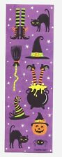 20 Sheets of Halloween Witch Cat Hat Broom Pumpkin Spider -9 Stickers on Page