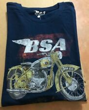 BSA MOTORCYCLE TEE SHIRT B.S.A GOLDSTAR ROCKET BANTAM LIGHTING A7 650 SIZE M