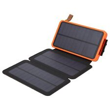 Portable Solar Battery Power Bank Charger 10000mAh with 3 PCS Solar Panel