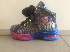 Irregular Choice 'Juicy' (B) Black Lace Up Hi Top Trainers Boots Shoes
