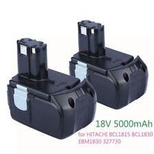 2pcs 18V 5000mAh Rechargeable Battery for Hitachi 327731 BCL1815 BCL1830 EBM1830