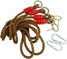 Tree Swing Ropes Hammock Chair Straps Hanging Kit 2 Carabiners for Replacement