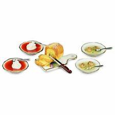 Reutter Dollhouse Miniature Tomato Chicken Liver Dumpling Soup Bread Set