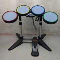 Xbox Harmonix Rockband Drum Set Drums Stand Foot Pedal No Sticks 822149
