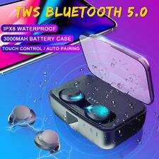 bluetooth 5.0 IPX8 Waterproof Earphones True Wireless TWS Stereo Earbuds Headset