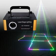 DMX RGB Effekte ILDA 500mW Laser Bühnenlicht Animation LASER SHOW Licht Effekte