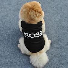 Summer Fashion Various Puppy Small Dog Cat Pet Clothes Black Vest Shirt Apparel
