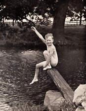 Vintage 1930s Skinny Dipper Boy copy of old photo