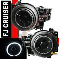 Black CCFL Halo Angel Eye Projector Headlights For 2007-2014 Toyota FJ Cruiser