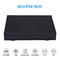 8CH HD 1080P POE NVR Recorder Network System Home Security IP Camera ONVIF P2P