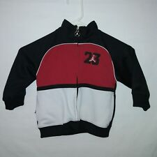 e7e08e4745a8be JORDAN Zip Up Track Jacket 23 White Black Red Kids Boys Size 2T