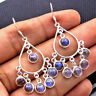 Handmade Jewelry 925 Sterling Silver Labradorite Chandelier Dangle Earrings