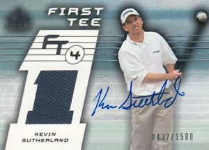 KEVIN SUTHERLAND JERSEY AUTOGRAPH FIRST TEE 0432/1500  in SP GAME USED 2003