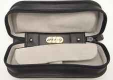 Double Watch Orbita 2 Travel Box Case Storage Verona W93001 Black Leather