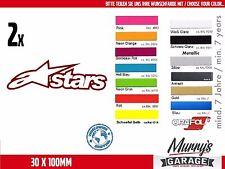 2x Alpinestars 30 x 100mm Aufkleber, Sticker, Motorsport, Autocollat, Étiquette